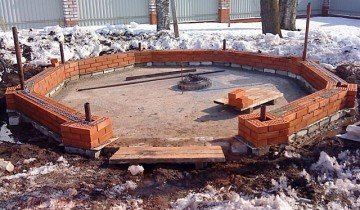 Начало строительства стен беседки, indeal.ru