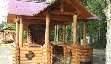 Деревянная беседка для дачи с мангалом, tvoydom.kiev.ua