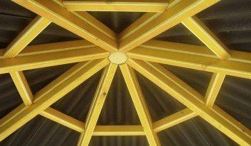 Крыша садовой металлической беседки, klipexa.com