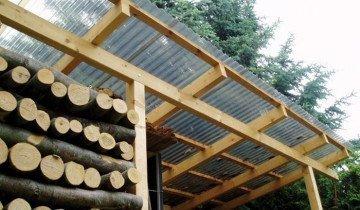 Навес для дров сделанный своими руками, msm-stroy.ru