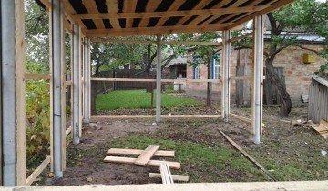 Процесс постройки деревянного навеса, blogspot.com