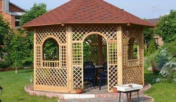 Изображение деревянной беседки, stroykat.com