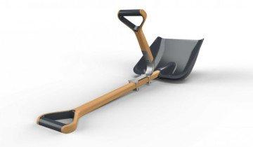 Двойная треугольная ручка для лопаты, topic.lt