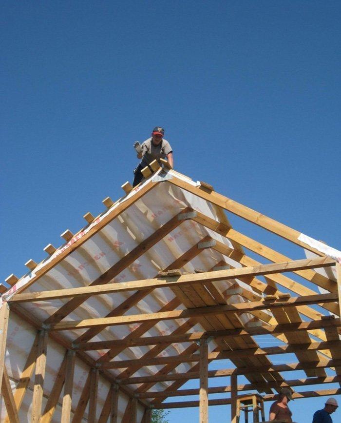 Мансарда с двускатной крышей своими руками фото фото 724