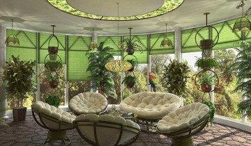 Фото зимнего сада на приусадебном участке, 3deko.info