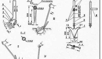 Схема рыхлителя-лункокопателя, eurosamodelki.ru