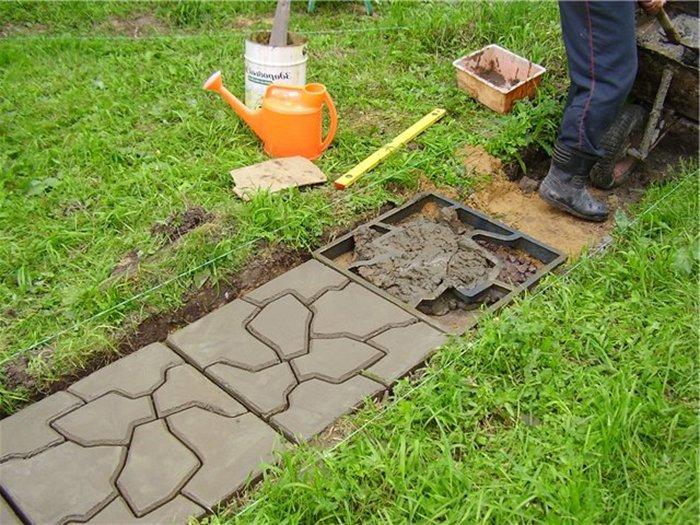 Как сделать дорожки в саду с