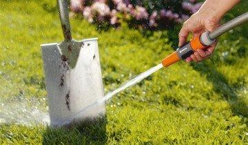 Процесс очистки лопаты, onlinebaufuchs.de
