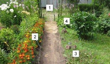 Фото разметки для садовой дорожки, 1stones.ru