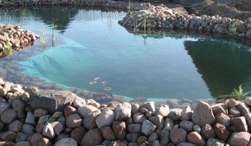 Искусственный пруд для разведения рыбы, gazon-ua.com