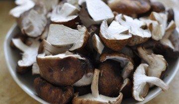 На фотографии чищенные лесные грибы, belonika.ru