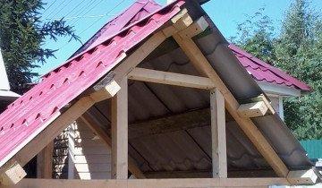 Фотография крыши навеса, postroi-domik