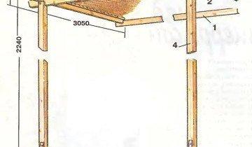 Фотография чертежа навеса для террасы своими руками, o-terrasah.ru