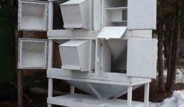 Изображение металлических клеток для кроликов, krolik-m.ru