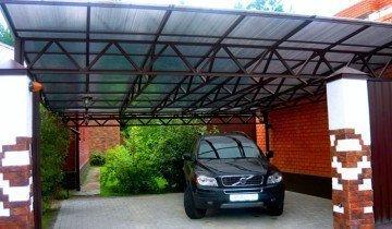 Навес из поликарбоната для автомобилей, lestnitsy-perila.ru