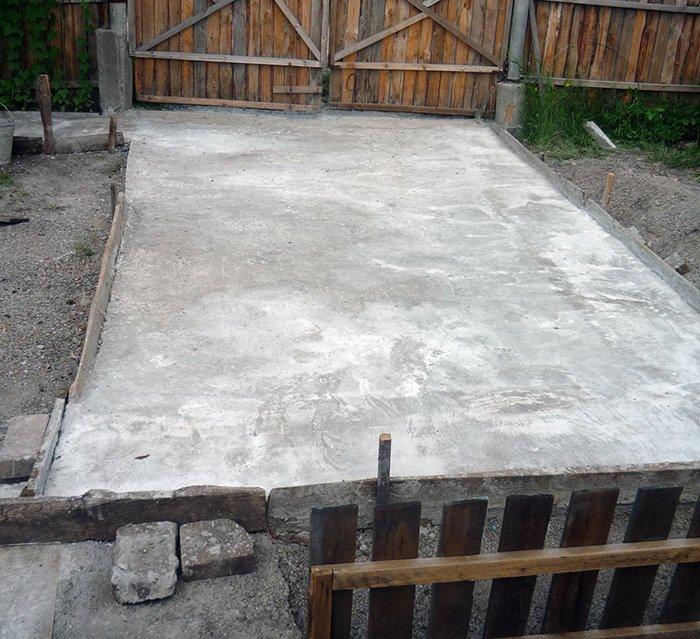 Забетонировать площадку на даче