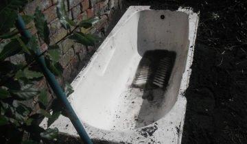 Процесс закапывания ванной, blogspot.com