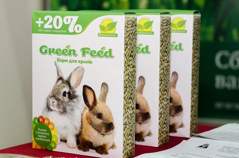 Изображение комбикорма для декоративных кроликов