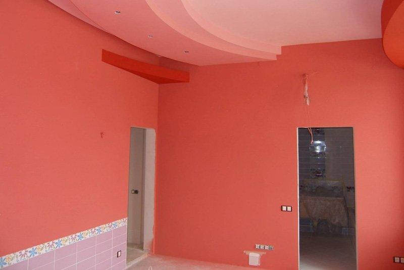 Крашенные стены в квартире фото