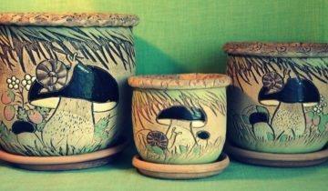 Набор керамических горшков