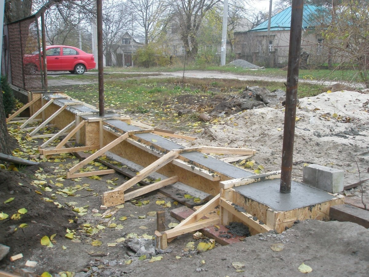 Фундамент из бетона своими руками фото