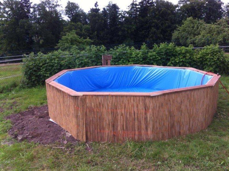 Бассейн из поддонов с отделкой