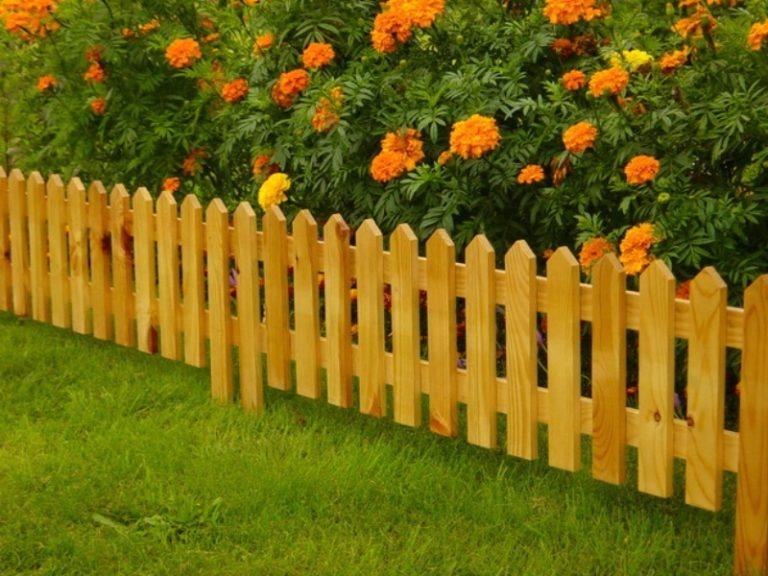 Забор деревянный своими руками декоративный