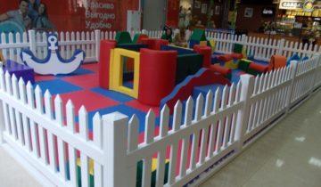 Деревянное ограждение для детской площадки