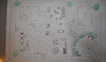 Подробный план детской площадки