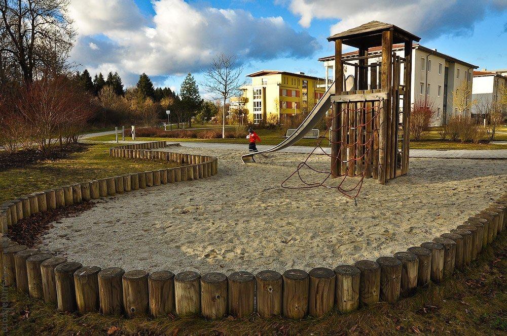 Площадка на песке