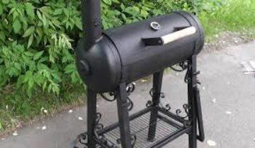 Мангал из баллона с дымоходом