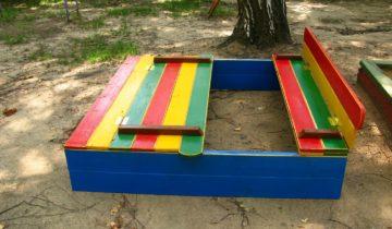 Детская песочница с сиденьями