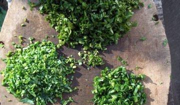 Измельченная зелень