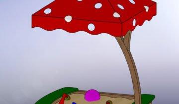 Песочница-гриб