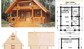 Проект двухэтажная баня со спальней на верхнем ярусе