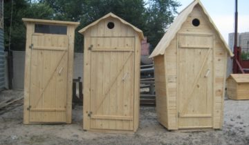 Деревянные домики для дачных уборных