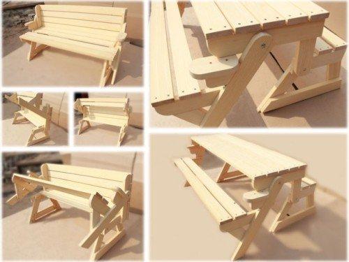 Готовая скамейка — трансформер
