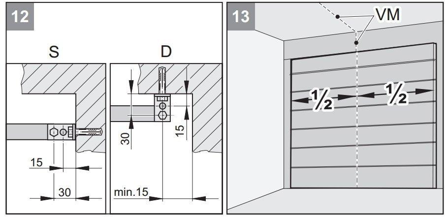 Схема крепления привода к потолку