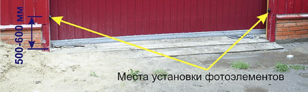 Фотоэлементы ворот