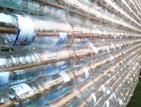 Полотно из пластиковых бутылок