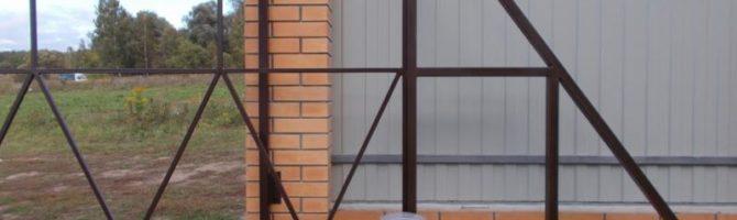 Конструкция для ворот из профильной трубы