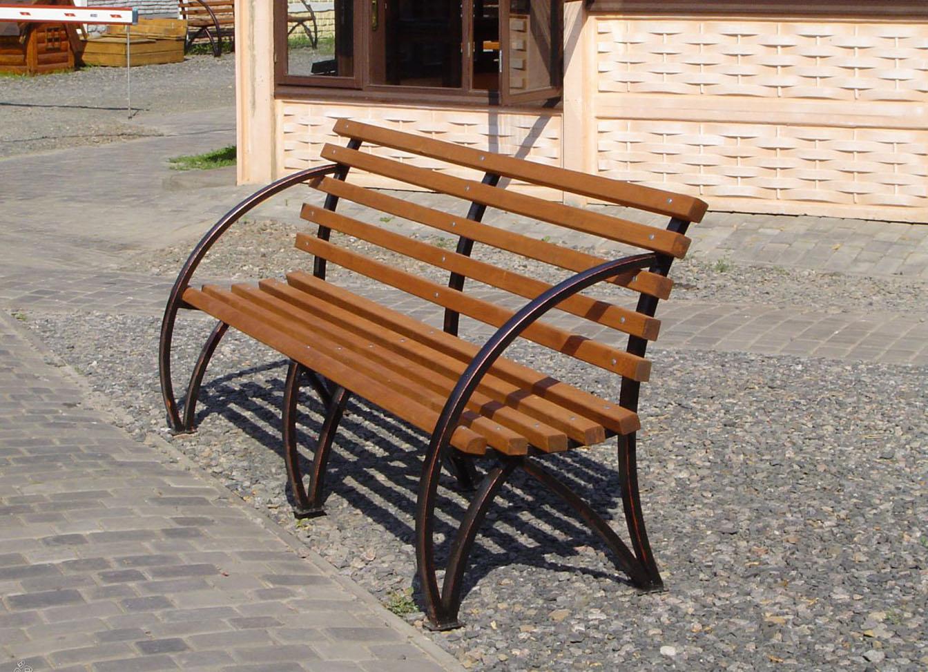 Скамейка из метала своими руками