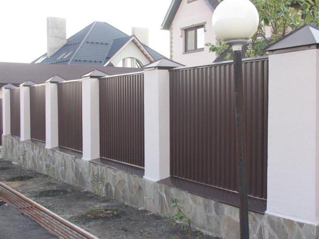 Забор и металлопрофиля
