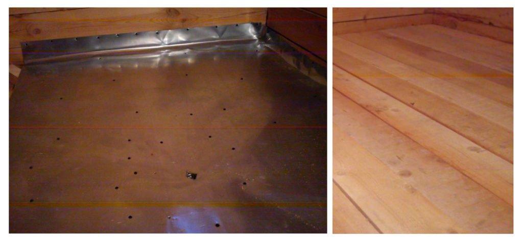 Монтаж стального листа и укладка финишного покрытия