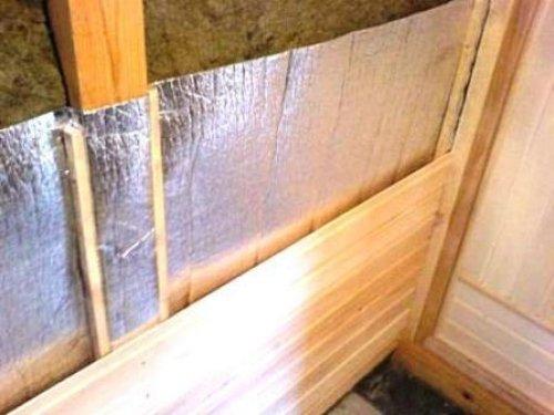Подготовка стен сауны