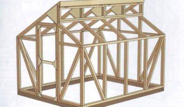 Схема деревянной теплицы Миттлайдера