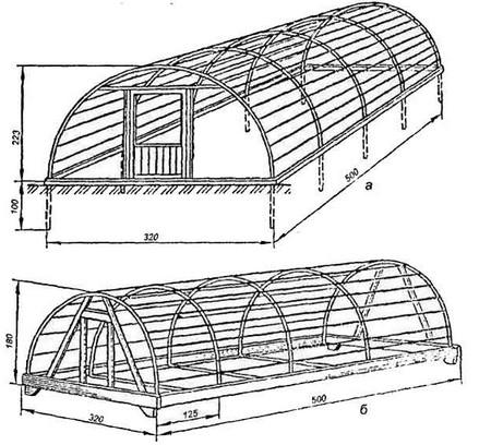 Схема-чертёж парника из полипропиленовых труб