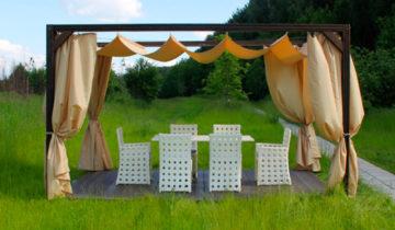 Лёгкий деревянный шатёр