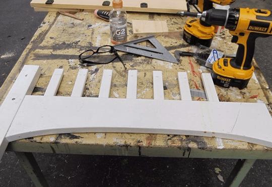 Заготовка для скамейки из кроватки