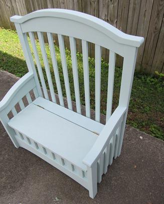 Готовая скамейка из детской кроватки